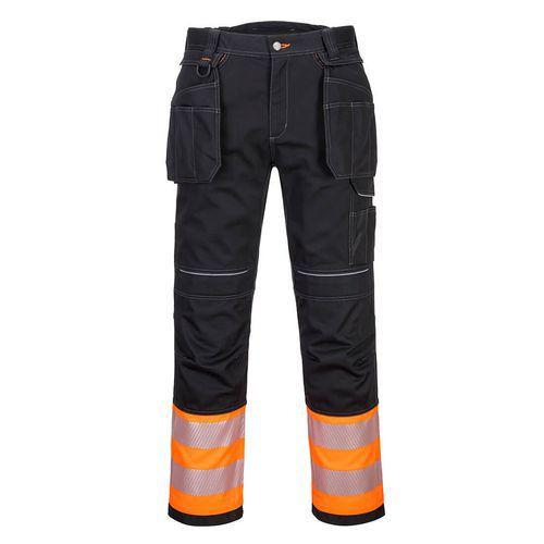 PW3 Hi-Vis trieda 1 nohavice, čierna/oranžová