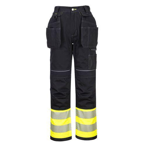 PW3 Hi-Vis trieda 1 nohavice, čierna/žltá