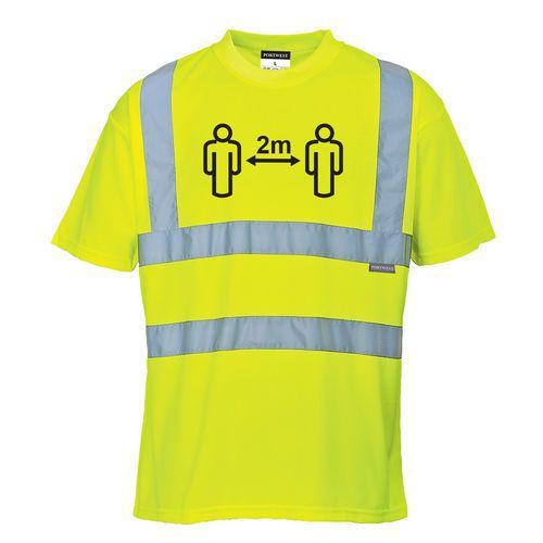 Tričko Hi-Vis pre sociálny odstup, žltá