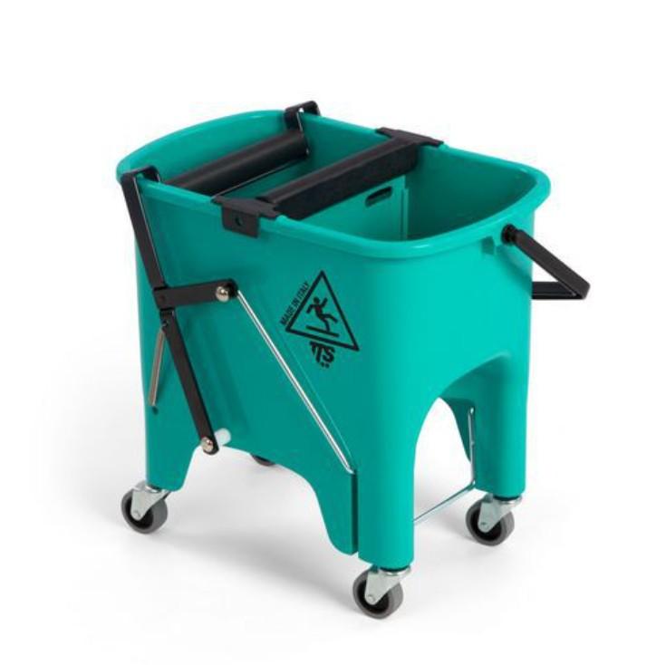 Úklidový set s mopem z mikrovlákna a úklidovým vozíkem TTS